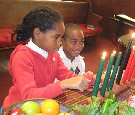 Kwanzaa candle lighting, 2008